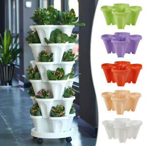 Multi-Layer Three-Dimensional Combined Flower Pot Balcony Planting Pot Home Big