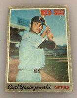 1970 Topps Baseball Card Carl Yastrzemski # 10 HOF Yaz