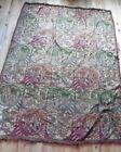 Antique Wall Tapestry Textile Medieval Lion Royal Crest Vintage Red Blue Green