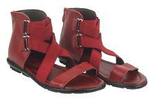 Sandalias 25 26 27 28 29 30 Rojo Negro Verano Niñas Sandalias De Cuero Goma