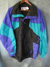 90's Columbia Radial Sleeve Hooded Nylon Jacket Size Large SM3160 Color Block