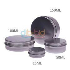 15 50 100 150 ML Nail Cream Holder Pot Lip Balm Tin Container Bottle eb#