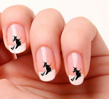 20 Nail Art Decals Transfers Stickers #388 - Witch & broomstick Halloween