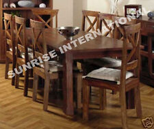 Solid wood 7 pcs Dining Set  -  1 table + 6 chairs !