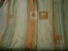 double rideau tons vert/ orange