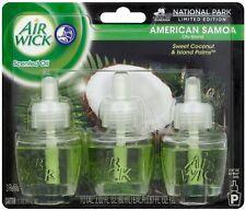Air Wick Scented Oil Air Freshener,American Samoa Scent, Triple Refills, 0.67 oz