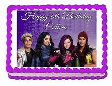 Disney Descendants party edible cake image cake topper frosting sheet
