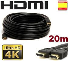 Cable HDMI 4K 2K PS4 PS3 Xbox 360 PC BluRay  20m Metros Conectores Full HD Oro