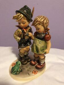 "Goebel Hummel Figurine frog themed Timid Little Sister 394 TMK-6  6 3/4"" Tall"