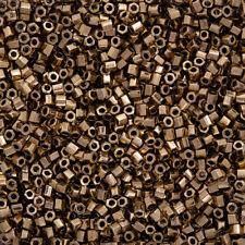 Miyuki Hex Cut Size 8/0 (3mm) Seed Beads Metallic Dark Bronze 12g (Q13/7)