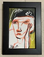 """PAINTING ORIGINAL ACRYLIC ON CANVAS PANEL(FRAME INCLUDED)4x6"""" CUBAN ART by LISA."""