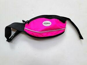 NEW FuelBelt Slim Pocket Waist Pack Zip Pouch Belt - Pink YM1-13