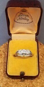 Weißgold Ring mit Diamanten