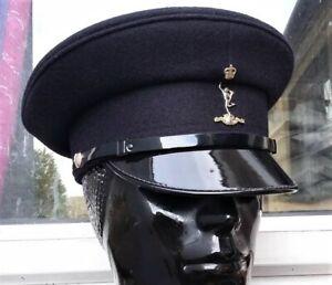 56 CM PEAK CAP/HAT+Badge Royal SIGNALS British Army Military Visor Events Stage