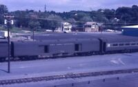 NYC NEW YORK CENTRAL Railroad Train Baggage Car RENSSELAER Original Photo Slide