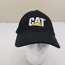 CAT Caterpillar Baseball Hat Cap Black Adjustable Strapback Mesh Trucker A1