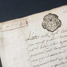 Acte Notarié 1767 Marque Généralité De Bretagne