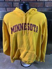 Minnesota Golden Gophers NCAA Yellow Hooded Hoodie Sweatshirt Mens SZ XXXL 3XL