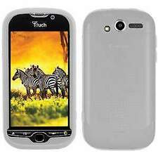 AMZER Transparent White Silicone Skin Jelly Back Case Cover For HTC myTouch 4G