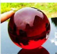 40mm + Stand Asian Rare glass red Magic Crystal Healing Ball Sphere