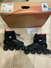 rollerblades women size 9, black & red, worn once, new