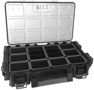 Keter DIY Tool Storage Clear Cover Organizer DURABLE Black