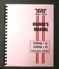 TenTec Omni A, Omni D Operator's Manual, comb bound & plastic covers!