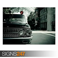 FORD HEADLIGHTS (AA926) CLASSIC CAR POSTER - Photo Poster Print Art * All Sizes