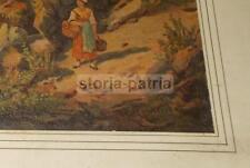 ARTE_PAESAGGIO MONTANO_BELLA VEDUTA PAESAGGISTICA_PONTE_FIUME_BIANCO PENNELLI
