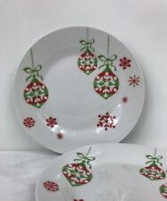 Gibson Everyday China | Christmas Ornaments | Red Snowflake | Plate | 7"