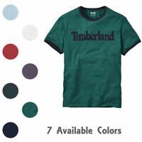 Timberland Men's Short Sleeve Linear Logo Cotton T-Shirt Style A1KC2/A1Q3I