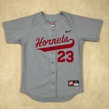 Vintage Nike Charolette Hornets Game Cut Baseball Jersey 23 Mens Medium USA Made