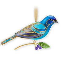 2013 Hallmark BEAUTY OF BIRDS Event Exclusive Ornament INDIGO BUNTING Repaint LE