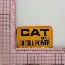 80s Cat Regd Diesel Power Patch Badge Applique Crest Logo B7