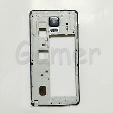 Black Middle Frame Housing Bezel Cover Loud Speaker For Galaxy Note 4 N910 N910F