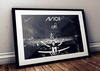 Avicii Live Onstage Autographed Poster Print. Large Size Available