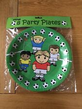 Packet of 8 Football Themed Party Plates