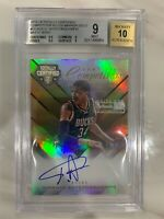2015-16 Giannis Antetokounmpo On-Card Auto #1/1 Panini White Box BGS 9 Auto 10!