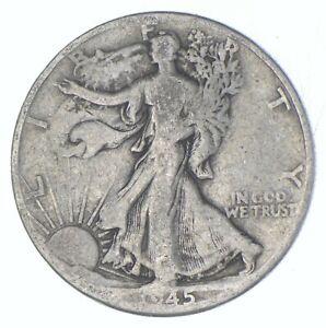 Better 1945-D - US Walking Liberty 90% Silver Half Dollar Coin Set Break *821