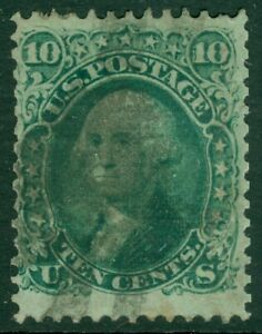 EDW1949SELL : USA 1868 Scott #96 Fine, Used. Perforation faults. Catalog $240.00