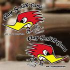 2x Stück Clay Smith Sticker Original Aufkleber Mr. Horsepower Paar 80mm