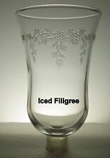 Home Interiors Embossed Iced Filigree Clear Votive Cup w/ rubber grommet