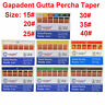 Dental GAPADENT Gutta Percha 120 Points Endodontic Root Canal Taper 0.02 #15-#40