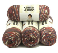 Caron Jumbo Print Yarnspirations Yarn Rusted Purple 12 Oz Skeins Lot Of 4