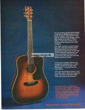1982 MORRIS MD520 Tobacco Sunburst Acoustic Guitar Vtg Print Ad