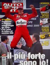RARE MICHAEL SCHUMACHER Fan Gear T-Shirt XL F1 2000 WORLD CHAMPION SCHUMI 1/18