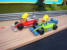 PAIR OF MINT MICRO SCALEXTRIC SIMPSONS CARS - LOADS MORE CARS FOR SALE