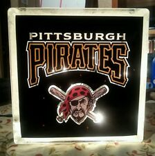 Lighted Pittsburgh Pirates  Glass Block Light~ Home Decor~Gift~Lamp
