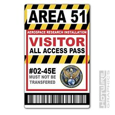 Full Colour Printed Novelty ID- AREA 51 VISITOR PASS CARD (Roswell Alien Base)