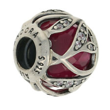 NEW Authentic Pandora Nature's Radiance Charm Sterling Synthetic Ruby 791969SRU
